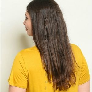 Sweet Claire Tops - 🎃Mustard Yellow Tee Femme Forever Plus Size